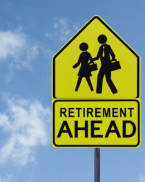 "Sign showing ""Retirement Ahead"""